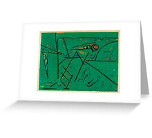 Clarborough in green Greeting Card