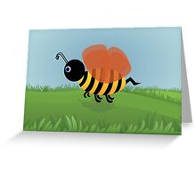 Bent Bee Poster Greeting Card