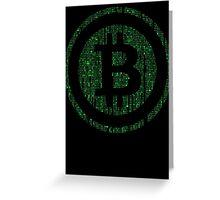 Bitcoin Matrix. Greeting Card