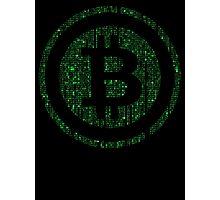 Bitcoin Matrix. Photographic Print