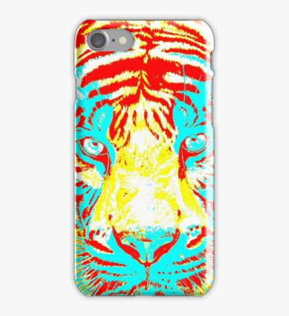 Tiger Eyes in Multicolours iPhone Case/Skin