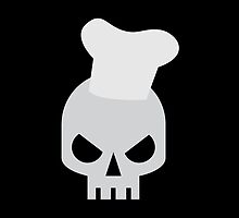 angry skull chef in a cooking hat by jazzydevil