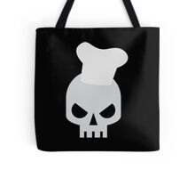 angry skull chef in a cooking hat Tote Bag