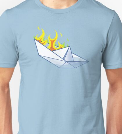 Origami Paperboat Fail Unisex T-Shirt