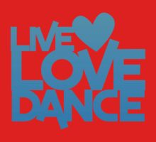 LIVE LOVE DANCE with heart One Piece - Short Sleeve