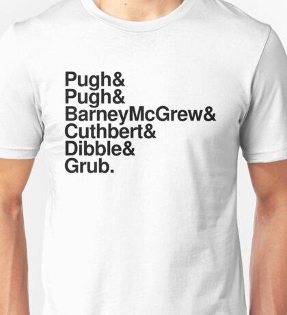 Trumpton list (black font) Unisex T-Shirt