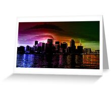 Glitchy City [Multicolor Version] Greeting Card