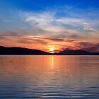 Midnight sun by Frank Olsen