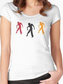 Three zombies dancing Women's Fitted Scoop T-Shirt