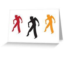 Three zombies dancing Greeting Card