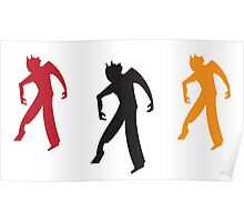 Three zombies dancing Poster