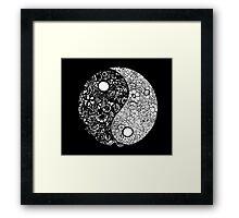 Yin-Yang (Black) Framed Print
