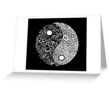 Yin-Yang (Black) Greeting Card
