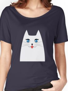 Cute cat with tongue sticking out Women's Relaxed Fit T-Shirt