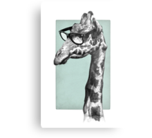 Short-Sighted Giraffe Metal Print