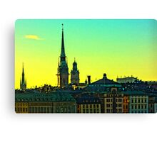Gamla Stan Summer sunset by Tim Constable Canvas Print