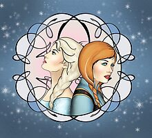 Sisters - Anna and Elsa by CatAstrophe