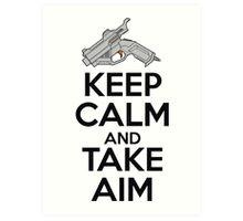 Dreamcast Keep Calm and Take Aim Art Print