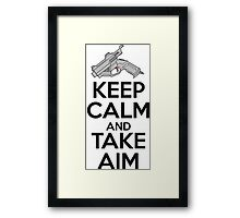 Dreamcast Keep Calm and Take Aim Framed Print