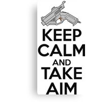 Dreamcast Keep Calm and Take Aim Canvas Print