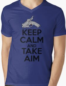 Dreamcast Keep Calm and Take Aim Mens V-Neck T-Shirt