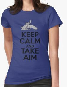 Dreamcast Keep Calm and Take Aim Womens Fitted T-Shirt
