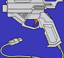 Dreamcast Light Gun (On Blue) by Sascha Grant