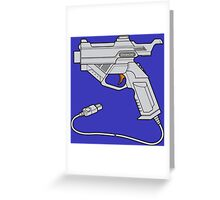 Dreamcast Light Gun (On Blue) Greeting Card