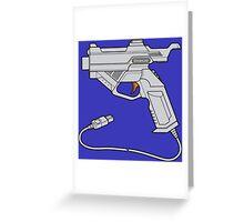 Dreamcast Light Gun (On Blue) Greeting Card