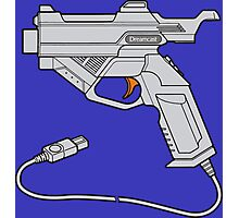 Dreamcast Light Gun (On Blue) Photographic Print