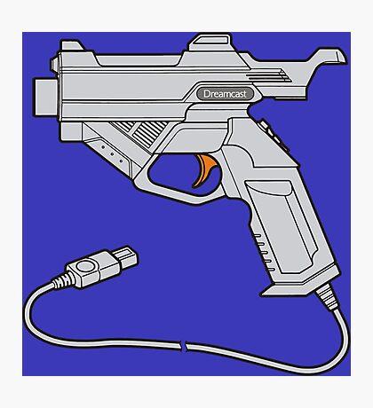 Dreamcast Light Gun (On Blue) Photographic Print
