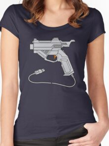 Dreamcast Light Gun (On Blue) Women's Fitted Scoop T-Shirt