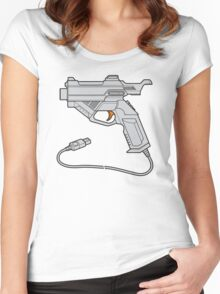 Dreamcast Light Gun (On Blue) Women's Fitted Scoop T-Shirt