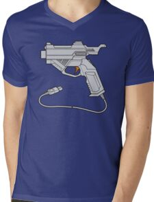 Dreamcast Light Gun (On Blue) Mens V-Neck T-Shirt