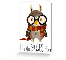 Small owlet - Biggest HP fan Greeting Card