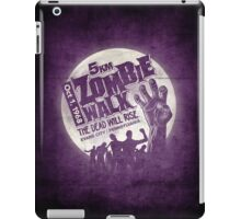 Zombie Walk - White iPad Case/Skin