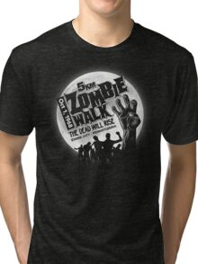Zombie Walk - White Tri-blend T-Shirt