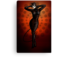 Catwoman Pinup Canvas Print