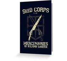 SeeD Corps Greeting Card