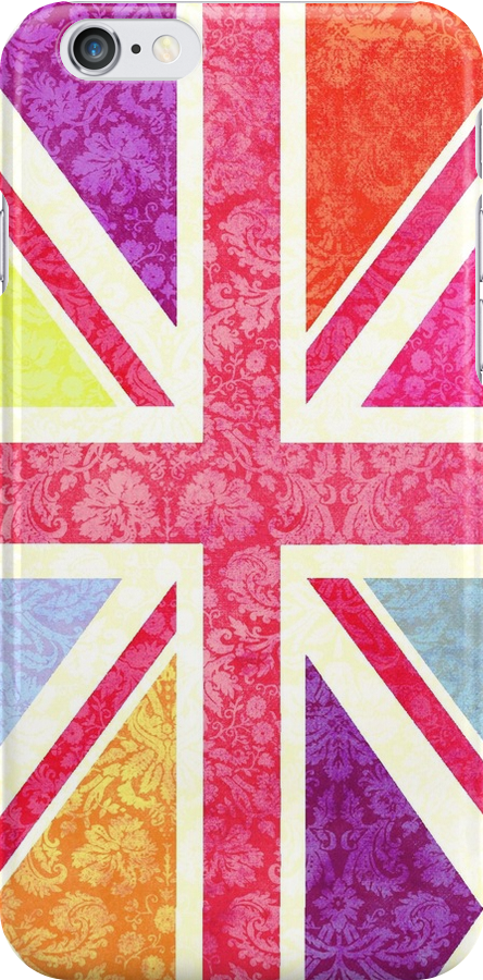 Pink Union Jack II by Claire Dimond