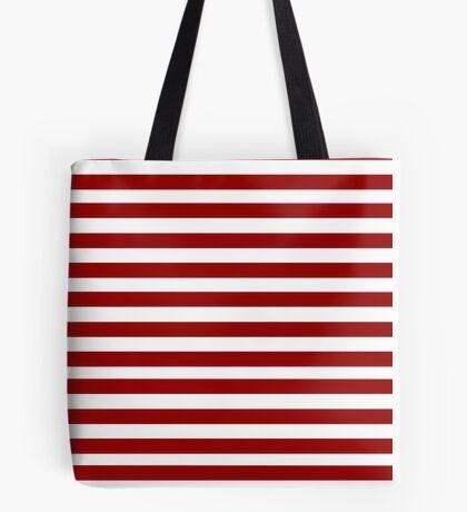 RED STRIPES! Tote Bag