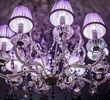 crystal Chandelier with lampshade by mrivserg
