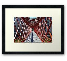 red Bridge perspective Framed Print