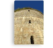 Old tower against the blue sky Canvas Print