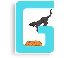 Cat Alphabet Letter G Canvas Print