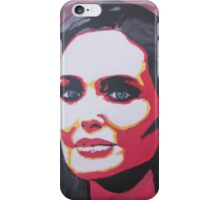 Portrait  of a tough woman iPhone Case/Skin