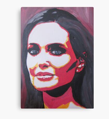 Portrait  of a tough woman Canvas Print