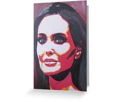 Portrait  of a tough woman Greeting Card