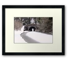 Snowing on the canal at Newbold Framed Print