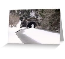 Snowing on the canal at Newbold Greeting Card